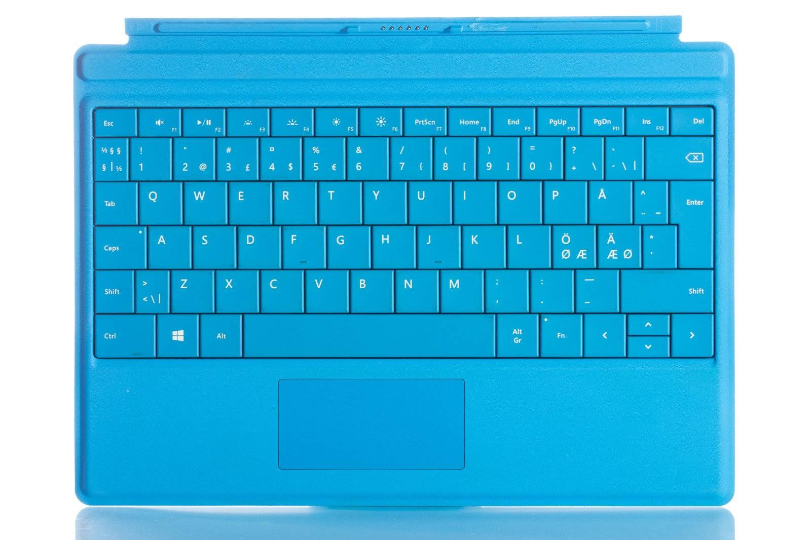 Keyboard Microsoft Surface Type Cover 3 Cyan QWERTY (Nordic) Grade B