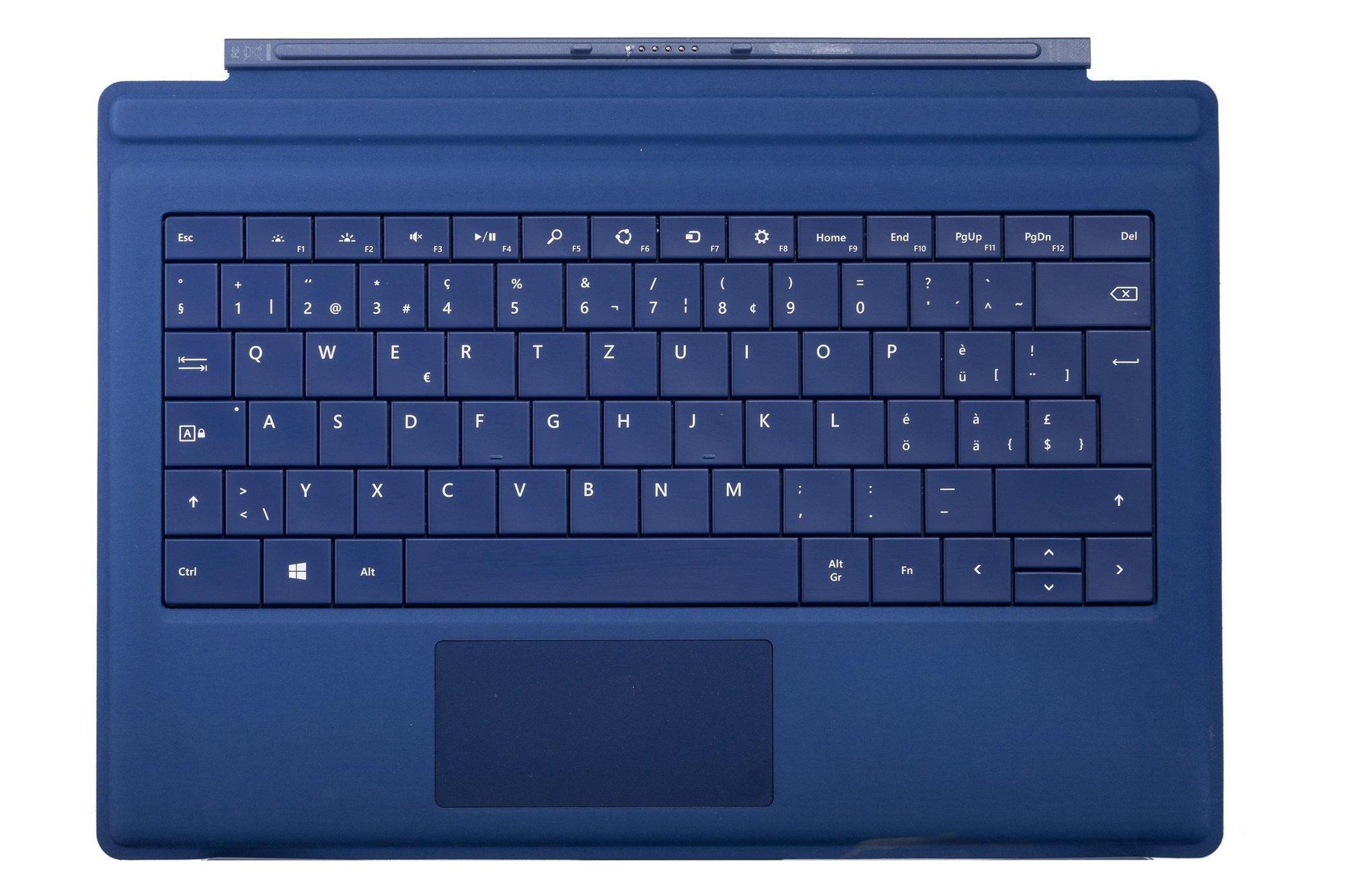 Keyboard Microsoft Surface Type Cover Pro 3 Dark blue QWERTZ (Swiss) Grade B