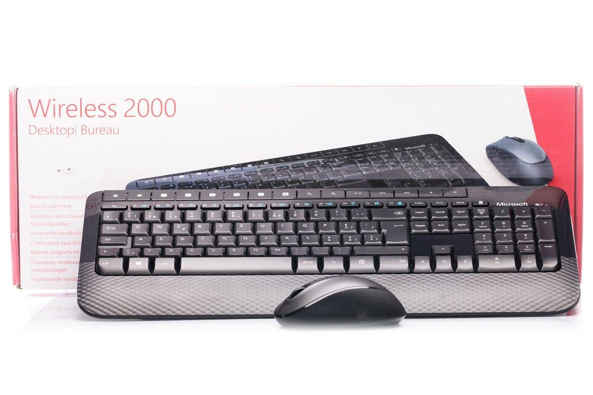 Keyboard and Mouse Set Microsoft Wireless 2000 Desktop (Swiss) M7J-00024