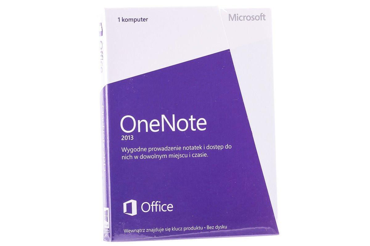 New Microsoft OneNote 2013 32/64 Medialess S26-05097 Eurozone