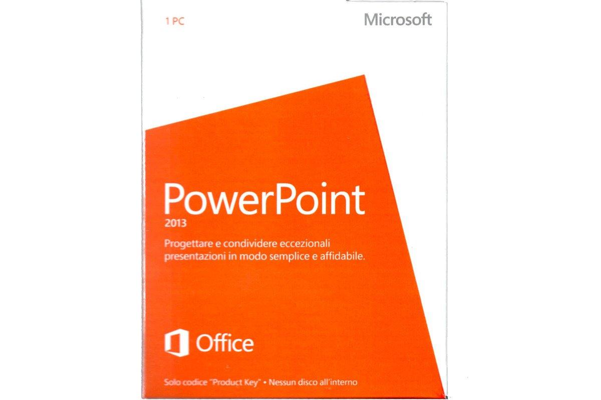New Microsoft PowerPoint 2013 079-05841 Italian Medialess Eurozone
