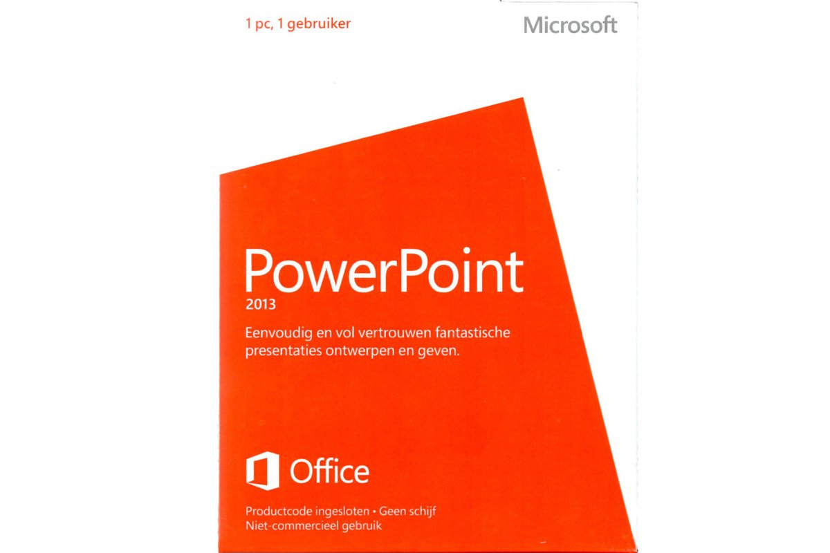 New Microsoft PowerPoint 2013 Dutch Medialess Noncommercial 079-05935 Eurozone