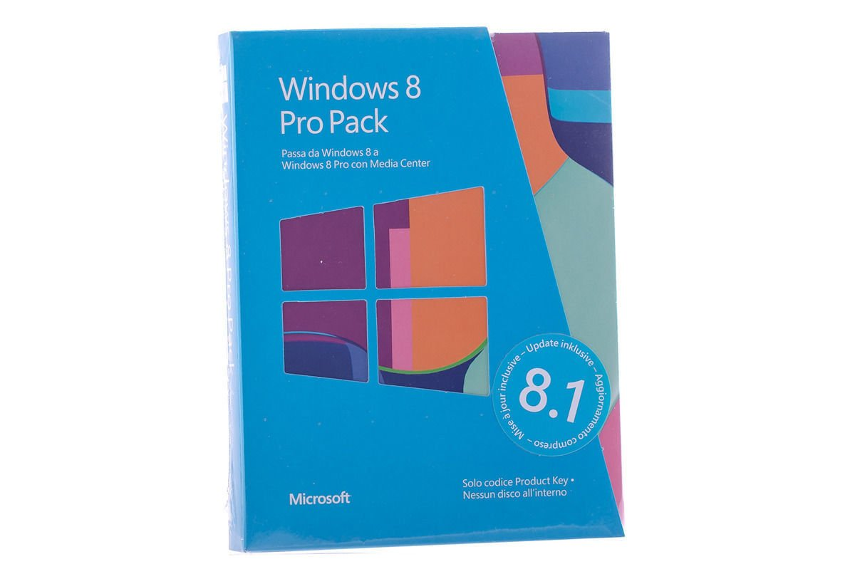New Windows Professional 8 Upgrade for PC 5VR-00023 KEY 32/64 bit Eurozone BOX