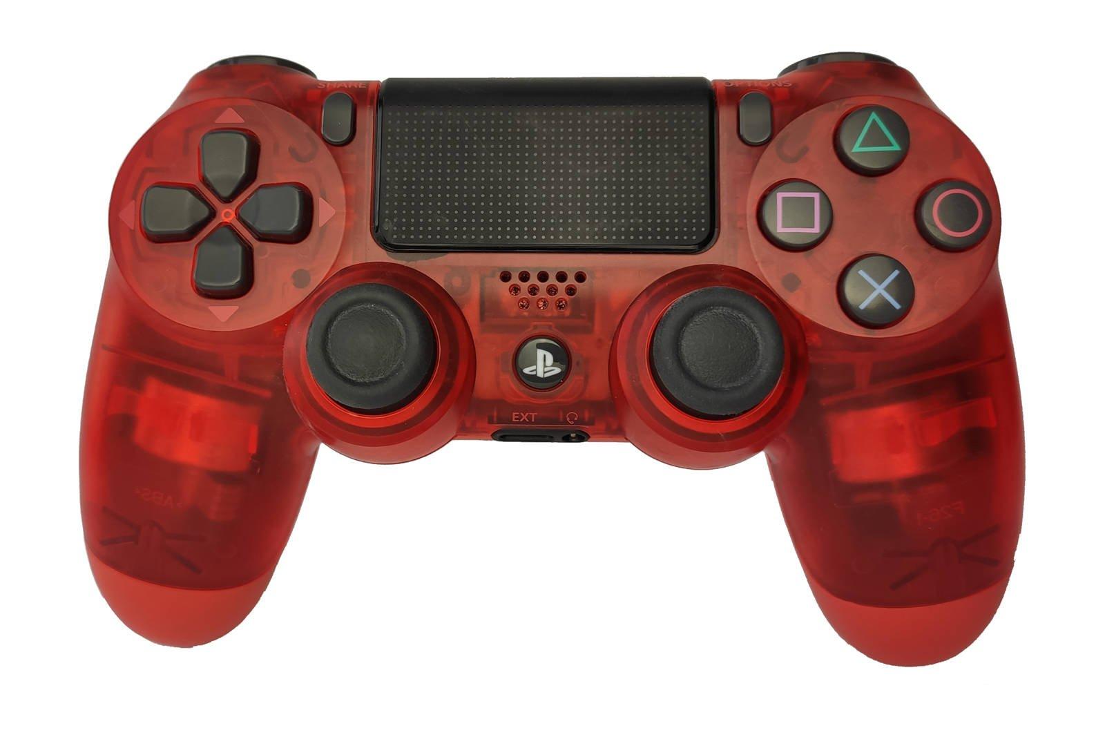Controller Gamepad Playstation 4 PS4 v2 Red Crystal