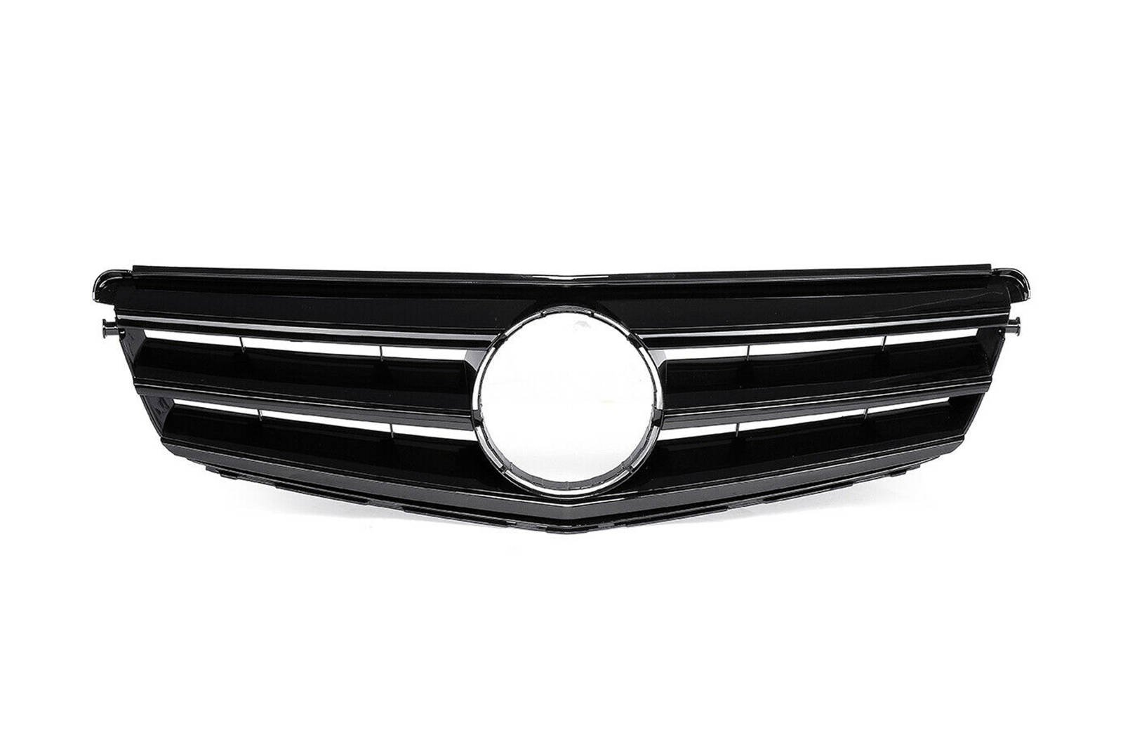 GTR Style Front Radiator Grille for Mercedes C-Class W204 Gloss Black