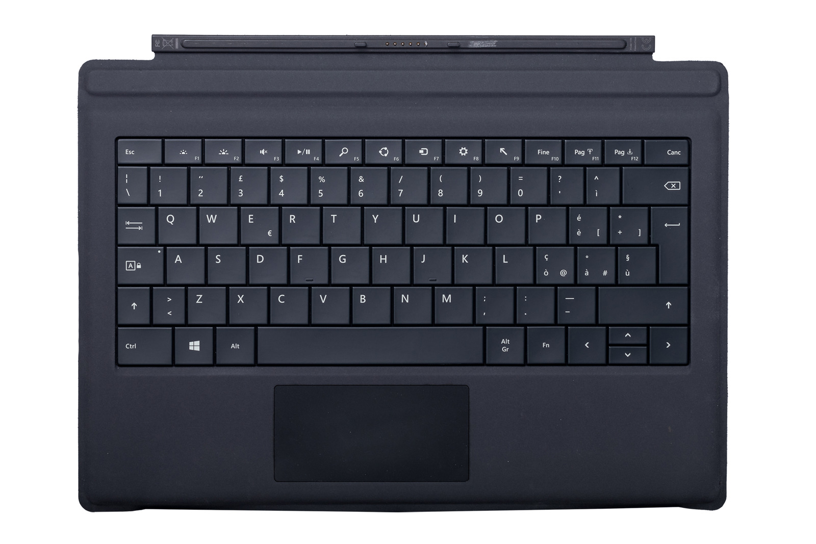 Keyboard Microsoft Surface Type Cover Pro 3 Black QWERTY (Italian) Grade B