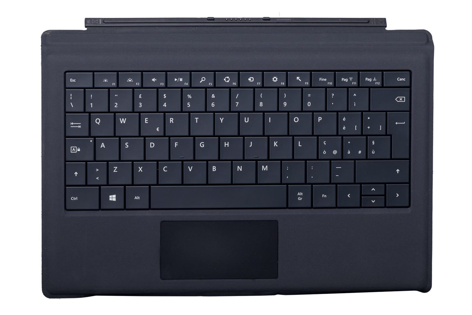 Keyboard Microsoft Surface Type Cover Pro 3 Black QWERTY (Italian) Grade B
