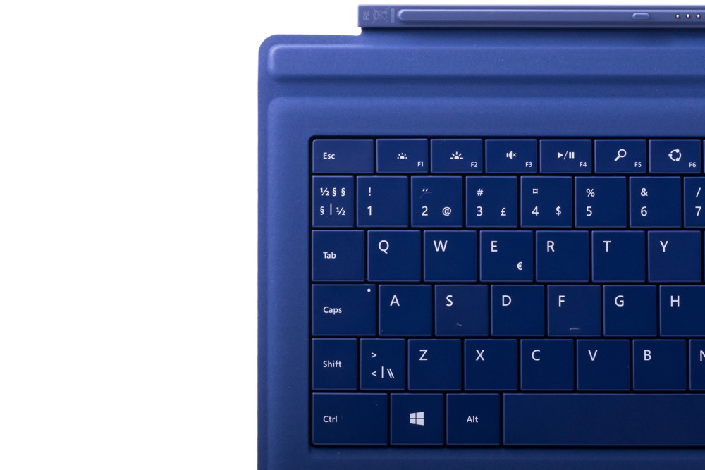 Keyboard Microsoft Surface Type Cover Pro 3 Dark blue QWERTY (Nordic) Grade B