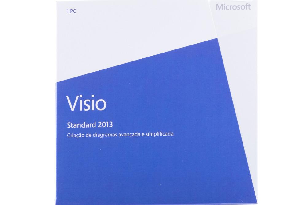 New Genuine Microsoft Visio Standard 2013 BOX D86-04923 Portuguese Africa Only