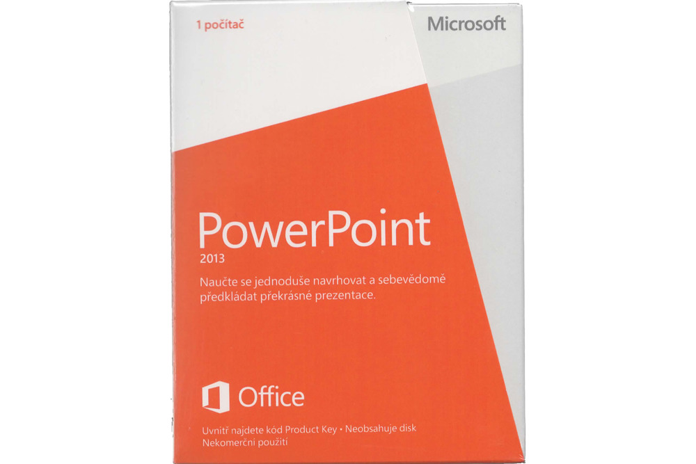 New Microsoft PowerPoint 2013 Czech Medialess Noncommercial 079-05933 Eurozone