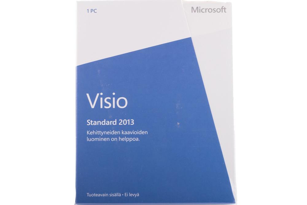 New Original Microsoft Visio Professional 2013 32bit/X64 Finnish Medialess