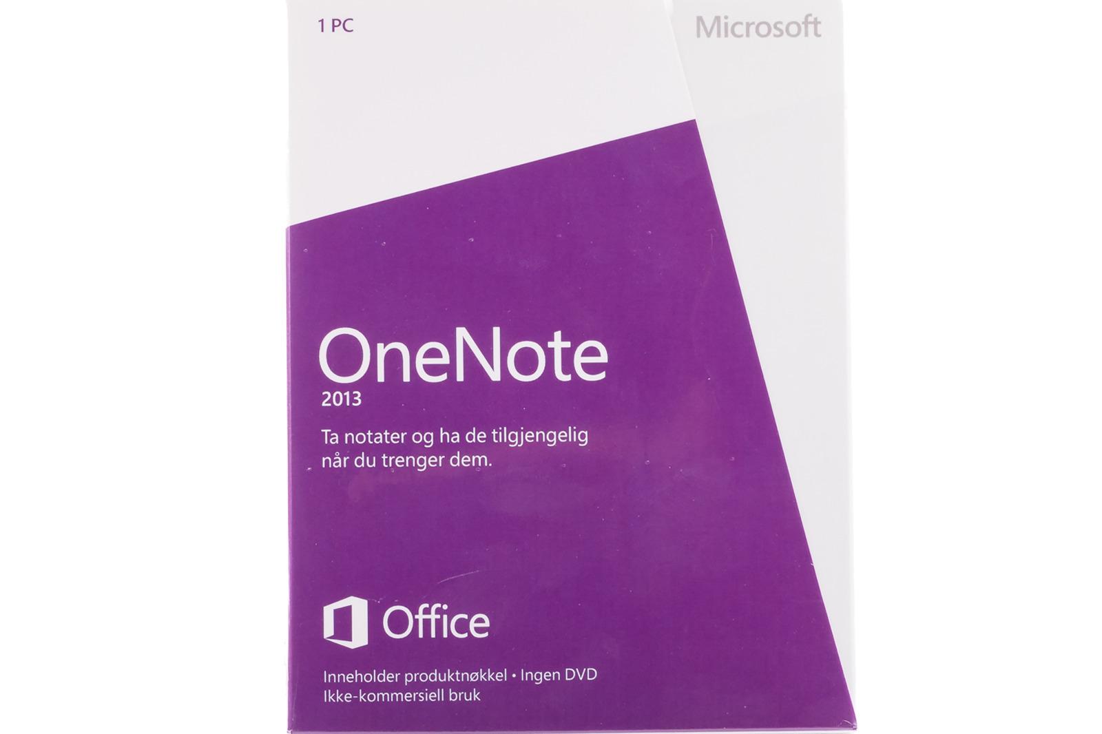 New Sealed Original Microsoft OneNote 2013 S26-05113 Swedish Medialess Eurozone