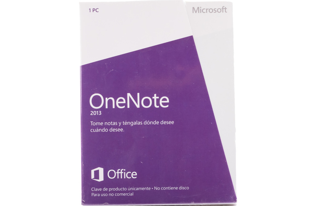 New Sealed Original Microsoft OneNote 2013 S26-05165 Medialess Spanish Eurozone