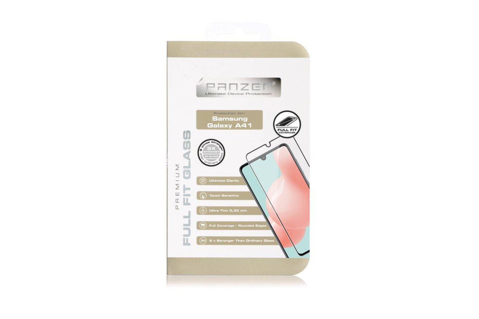 Protection glass Panzer FULL FIT GLASS SAMSUNG GALAXY A41