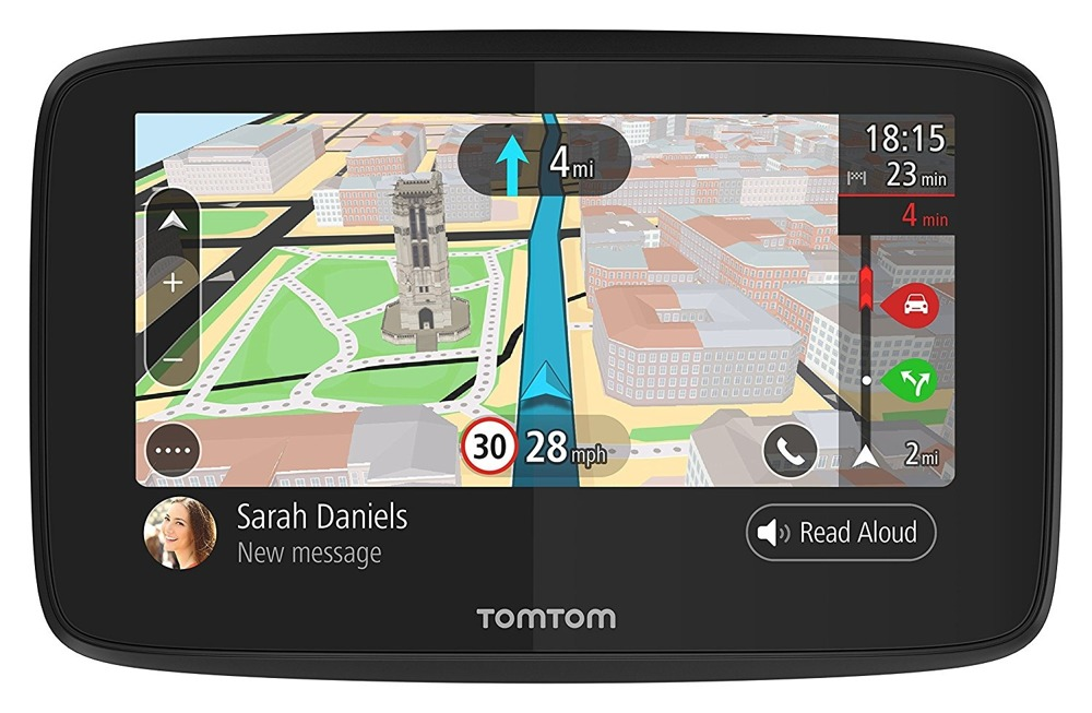 """TomTom Go 620 Wi-Fi 6"""" World maps lifetime traffic and maps 16 GB new"""